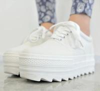 New Women Canvas Shoes Platform Single Shoes Low Elevator Women Casual Sneakers Shoes