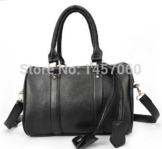 New Free Shipping Hot Selling 2014 spring new fashion handbags retro portable shoulder bag burgundy handbag Boston(China (Mainland))