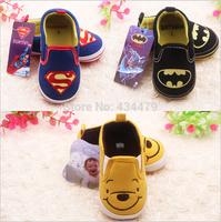 1 pcs Retail superman batman tigger thomas minnie cartoon baby shoes boys girls summer spring autumn newborn infant sapatos