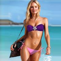 New 2014 sexy two-piece biquinis bikini swimwear triangle bikini Bandeau Top