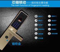 High security, fingerprint door lock, password, fingerprint, keys, three way to open door