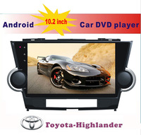 "10.2"" Big screen double din Android 4.2 Car DVD Navigation For TOYOTA-HIGHLANDER 1080P 1024*600 capacitive touch screen gps"