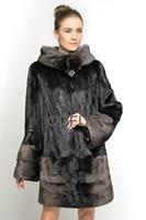 New Style Winter Elegant Women's Genuine Natural Mink Fur Coat Jacket Female Fur Outerwear Garment Folded Sleeve QD70818