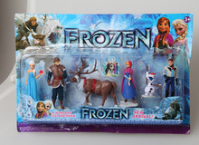 Free Shipping Hot Frozen Girls Toys 6pcs/set Frozen A