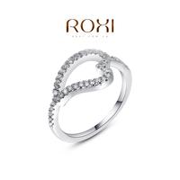 ROXI Fashion Accessories Gold Plt Austria Crystal Gorgeous CZ Diamond Sweet Heart Pattern Rings Love Gift for Women