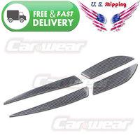for 2008-2014 Mitsubishi Lancer EVO X 10 Outlander Real Carbon Fiber Tail Light Eyebrows Eyelids