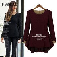 FYOUAI Winter Women Dress Fashion Women Top Long-sleeved Short Dresses  Female Sexy Clothing Plus Size 3XL 4XL 5XL