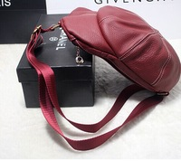Fashion simple 100% genuine leather hat bag chest bag women Messenger bags