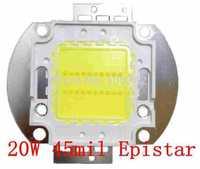 45mil Epistar Chip 20Watt High Power LED 10*2 1900-2100lm 30-36V 600-700mA 10pcs/lot