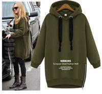 Cotton Loose Plus Size Long Women Hooded Sweater Casual Sweatshirt  Jacket Ladies Pullovers Fashion Outwear  Hoodies