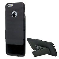 New arrive Simplicity Fashion Black Belt Clip Swivel Kickstand Holster Case Cover for iPhone 6 Plus 5.5 inch
