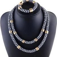 Cotton Bib Necklaces & Pendants Women Choker Statement Necklace 2014 Collar Fashion Vintage Pendant Necklace Jewelry