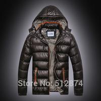New Arrival 2014 fashion men down coat Men's coat Winter overcoat Outwear Winter jacket hooded thick jackets outdoor plus size