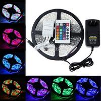 5M 60leds/M 3528 SMD RGB waterproof Christmas led strip lamp lights+2A US power