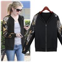 2014 New Winter Small Beads Zipper Cardigan Sweater Women Plus Size Casual Hoodies Ladies Sweatshirts Outwear Brand Coat Jacket