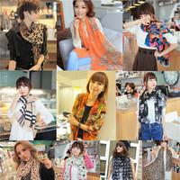 155*43cm 20 Patterns New 2014 Autumn Vintage Chiffon Scarves, Women Casual Print Lovely Bohemian Scarf Wrap Shawl Cape