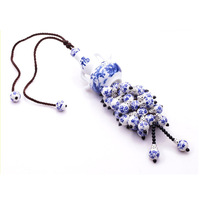 New Fashion Blue and White Porcelain china Ceramic Decoration Hangings for Car Reverse Mirror Decoration Free Shipping