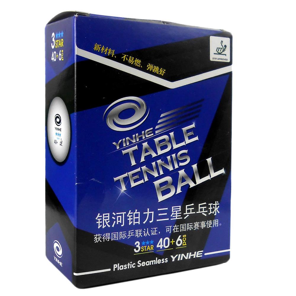 12x YINHE 3-Stars White Table Tennis Balls, 40+ (New Materials)(China (Mainland))