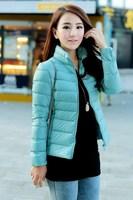 Free Shipping Fashion Winter Jacket Women White Duck Down-Jackets Casual Down Coats Long Sleeve Slim Jackets Women Zipper