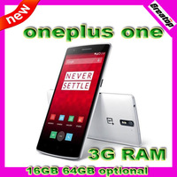 100% Original oneplus one 1+ 3GB RAM Mobile phone 16GB 64GB optional support 4G FDD LTE 2.5Ghz Quad core 13.0MP Android4.4