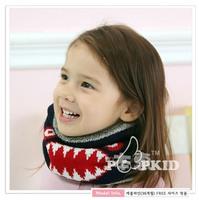 Retail new winter children warm scarf Original shaq and velvet children's characters,free shipping