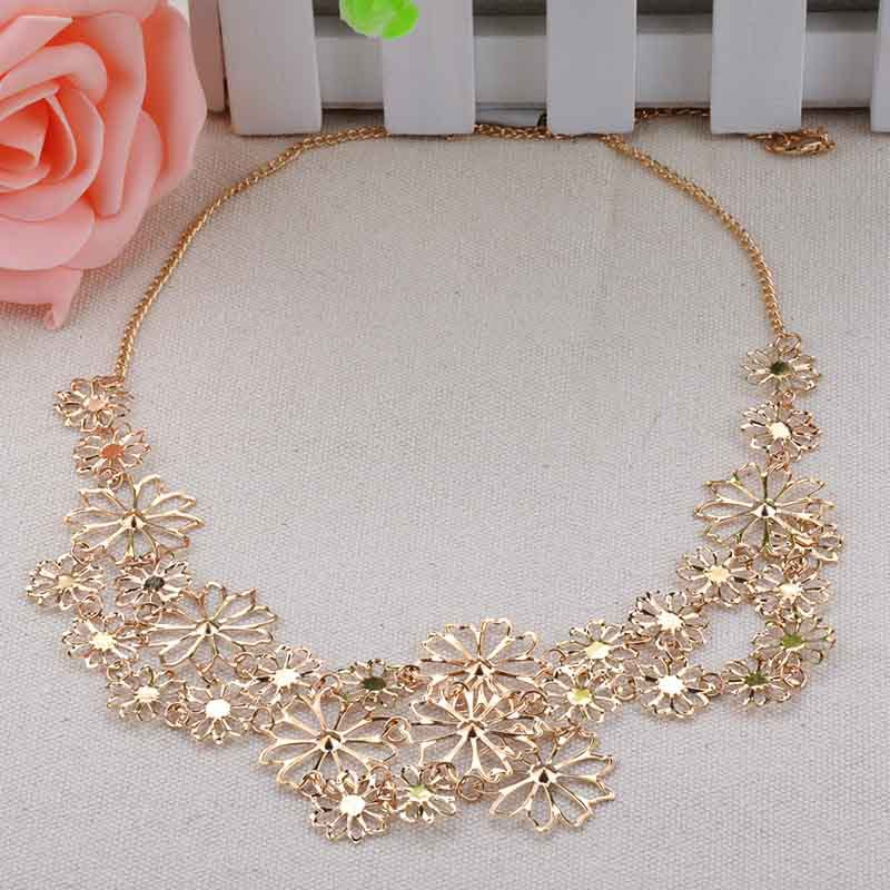 Cheap Sale Fashion Jewelry Vintage Necklaces Multilayer Hollow Flowers Pendant Necklace Chain For Women FY461MPJ(China (Mainland))