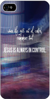 Jesus Is Always In Control Christian Bible Cover Protector Sleeve Case For Apple Iphone 4 4S 4G