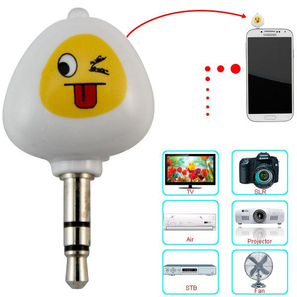 3,5mm móvel inteligente infravermelho inteligente sem fio universal ir aprendizagem controle remoto para projetor tv ar condicionado(China (Mainland))