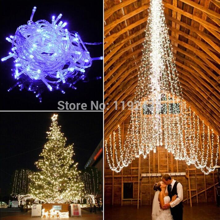10M 100 LED String light for christmas party wedding Fairy Light decorative Blue /Green/Colorful /White Christmas 220V EU Plug(China (Mainland))