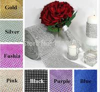 10 Yard Bendable Diamond Mesh Wrap Roll  Sparkle Rhinestone Crystal Ribbon  For Wedding Craft Gift Party Bow Decoration