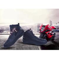 2014 Hot Men Ankle Leather Racing Touring Motorcycle Motorbike Short Boots Black [PB67-PB72]