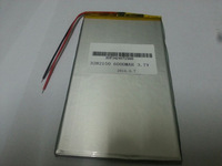 Good Qulity 3.7V 6000mAH(Real 5200mAh) Li-ion battery for CHUWI V88,ONDA V971,Pipo M9 Tablet PC, 3.2*82*150mm