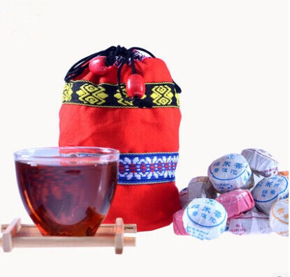 Pomotion ! dfferent flavor mini puer tea + gift ,health care ,natural food free shipping(China (Mainland))