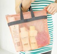 Nylon Net Design Style Waterproof Handle Wash Bag Organizer Storage Bath Bag