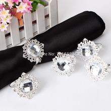 12 pc New Diamond guardanapo anel de guardanapo Wedding Banquet titular jantar Decor Favor(China (Mainland))