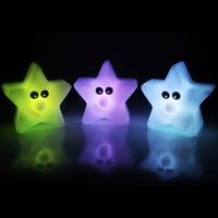 Creative five-pointed star nightlight  expression pentagram stars novelty gadget colorful LED  flashlight christmas lights B-68