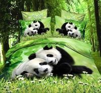 031green white black red brown animal Panda Swan Zebra Cotton queen size Duvet / Quilt Cover Bedding sets sheet pillowcase