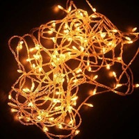 New 2014 Brand high quality NEW CHRISTMAS TREE WEDDING PARTY YELLOW LED light 10M  Free Shipping