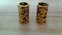 Free Shipping 50pcs/Lot Metal Filigree Dreadlock Bead 8mm Hole Hair Beads - Golden Color