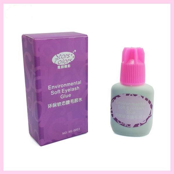 Environmental Soft Eyelash Glue Odor Free No toxic No Stimulation Individual False Eyelashes Extension Glue & Adhesive 15ml(China (Mainland))