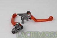 New CNC Pivot Brake Clutch Levers KTM 505XC-F 505 XC-F 2008 Orange