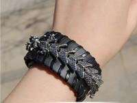E - 656 - a new style Keel leather bracelet Rivets bracelet wrist star performance  leather bracelet
