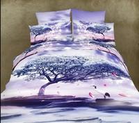 040 purple white  blue animal horse lion leopard tiger Cotton queen size Duvet / Quilt Cover Bedding sets sheet pillowcase