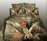 brown gray  black  white animal Leopard Horse Tiger  Cotton queen size Duvet / Quilt Cover Bedding sets sheet pillowcase