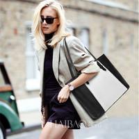 New winter European large bag women handbag brand desigual contrast casual female shoulder bags fashion tote
