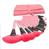 new professional 24pcs makeup brush set makeup brush&tools make up brushes set brand free shipping pink colour CZ027