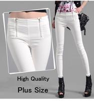Plus Size 2015 Women Office Skinny Pants Ladies Zipper Casual Elastic Emoji Pants Trousers Women Pantalones Pencil Pants W00247