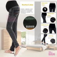 factory direct sale pregnant women jeans pants winter pregnancy Pregnant belly plus thick velvet pants
