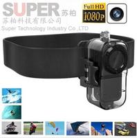 Extreme HD1080P/30fps Sport Helmet Camera Alloy Shell Mini DV F38 Thumb Camera Waterproof Gopro sport camera sports camcorder