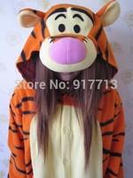 Anime Animal Angry Winnie Tigger Piglet  Cosplay Pajamas Adult Unisex Onesie Fleece Party Dresses Jumpsuit